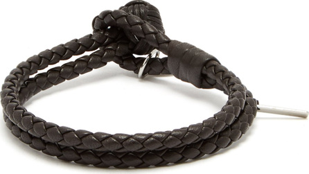 Bottega Veneta Double-wrap leather bracelet
