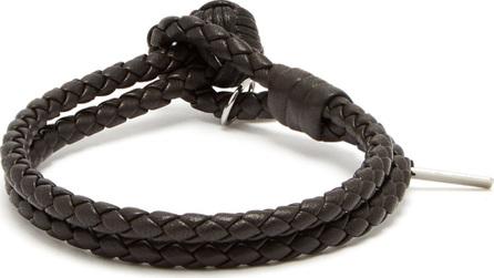 Bottega Veneta Double-wrap leather bracelet