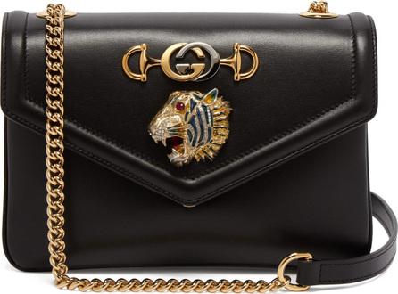 Gucci Tiger-head leather shoulder bag