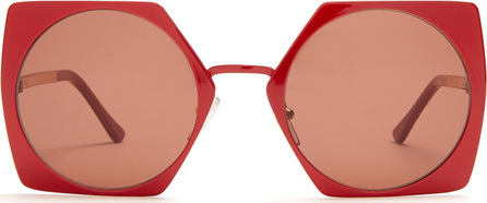 Marni Pentagon cut-out circle sunglasses