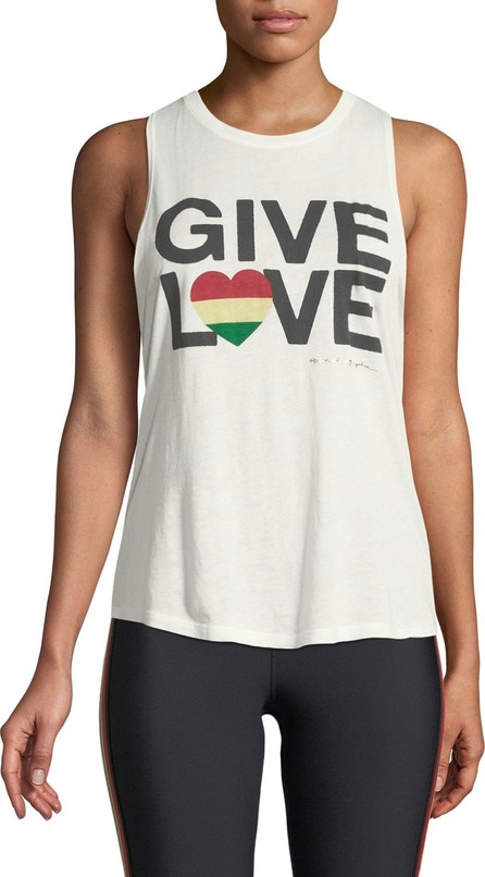 Spiritual Gangster Give Love Graphic Muscle Tank