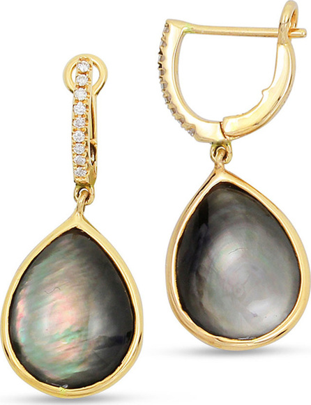 Frederic Sage Luna 18k Gold Black Mother-of-Pearl Earrings