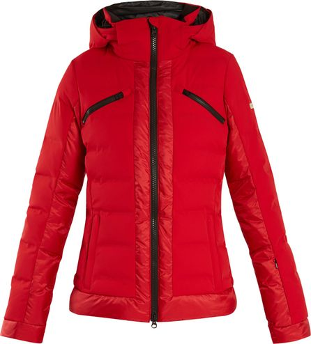 Capranea Trino quilted down hooded ski jacket
