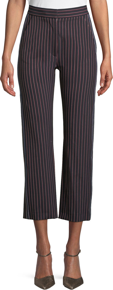 See By Chloé Striped Straight-Leg Trousers