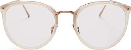 Linda Farrow Cat-eye rose-gold plated glasses