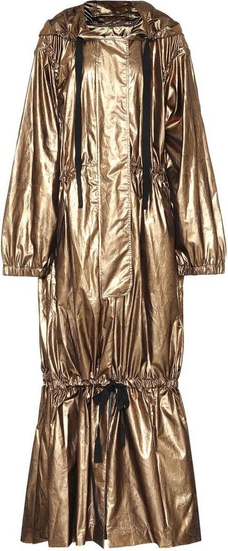 Dries Van Noten Metallic silk-blend coat