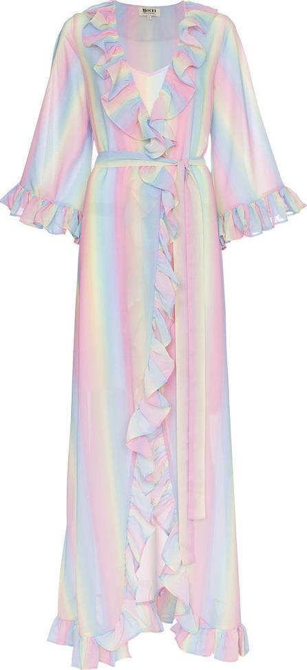 All Things Mochi Malena rainbow stripe wrap dress