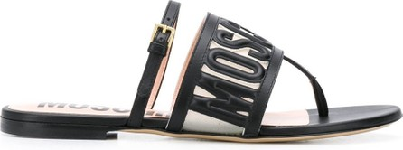 Moschino Embossed logo sandals