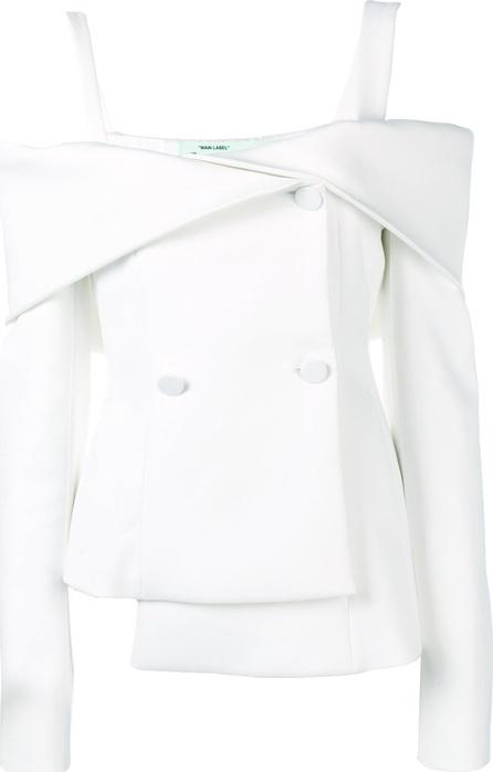 Off White Off-shoulder short dress