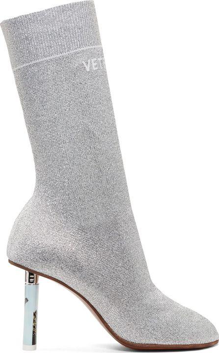 Vetements SSENSE Exclusive Silver Lurex Lighter Sock Boots