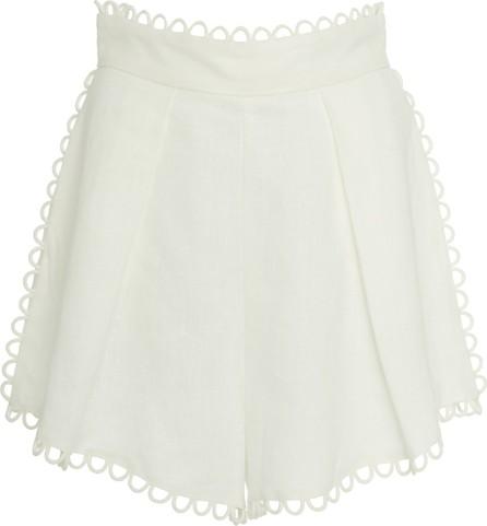 Zimmermann Allia High-Waisted Linen Shorts