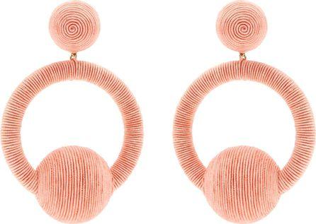 Rebecca de Ravenel Laeticia hoop-drop earrings