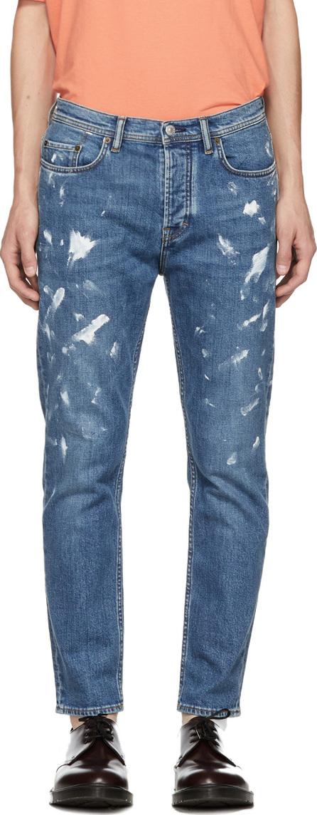 Acne Studios Blå Konst Blue Vintage Paint River Jeans