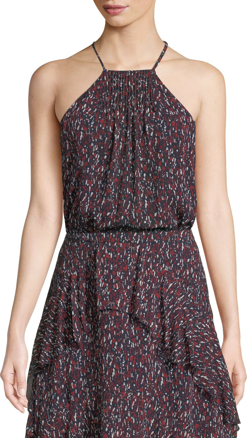Joie - Trianna Printed Silk Halter Top