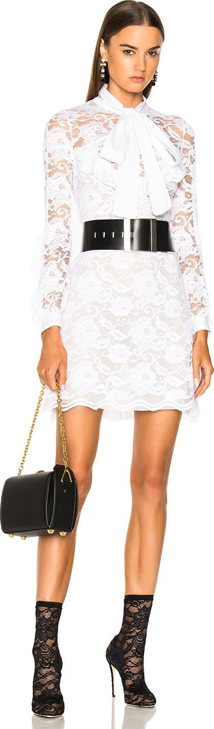Francesco Scognamiglio Lace Mini Dress