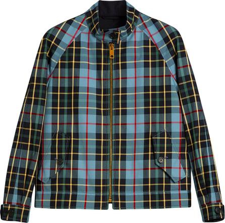Burberry London England Tartan Cotton Gabardine Jacket