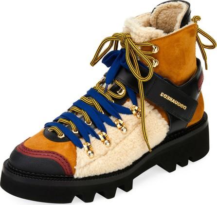 DSQUARED2 Men's Faux-Shearling Hiker Boot