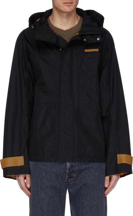 Helmut Lang Contrast stripe hooded jacket