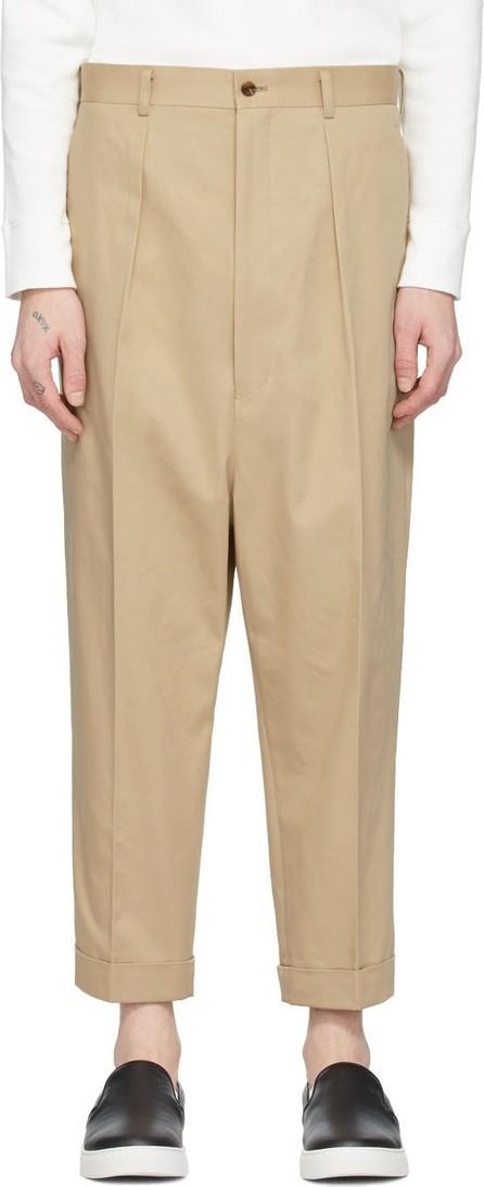 Comme des Garçons Homme Beige Cotton Chino Trousers