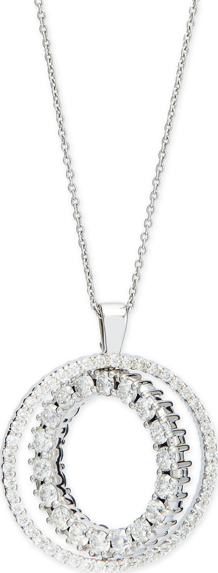 Roberto Coin Double-Sided Diamond & Pink Sapphire Pendant Necklace