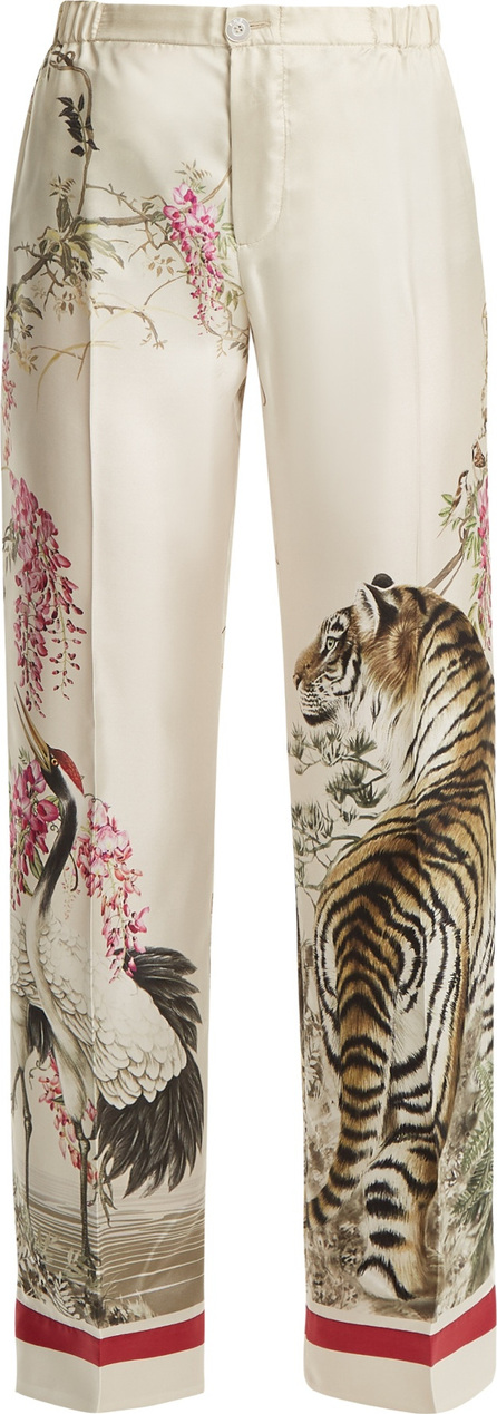 F.R.S For Restless Sleepers Etere tiger-print wide-leg silk pyjama trousers