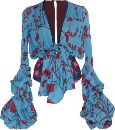Johanna Ortiz Florence Double Georgette Bodysuit