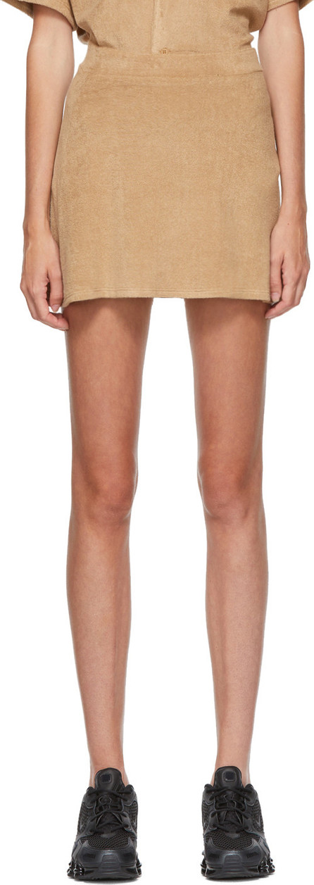 Gil Rodriguez SSENSE Exclusive Beige Terry Tennis Skirt