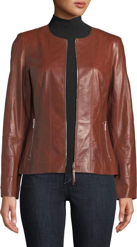 Lafayette 148 New York Courtney Glazed Weightless Leather Jacket