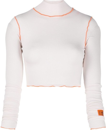 Heron Preston Contrast piping cropped jumper