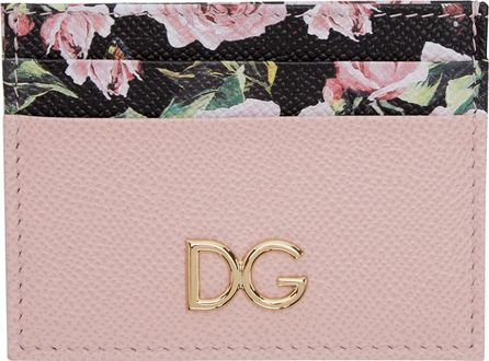 Dolce & Gabbana Pink & Floral Card Holder