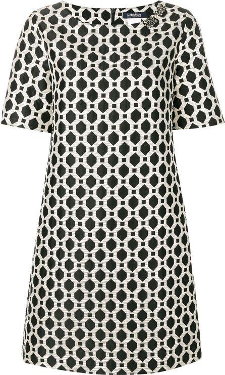 Max Mara embellished jacquard dress