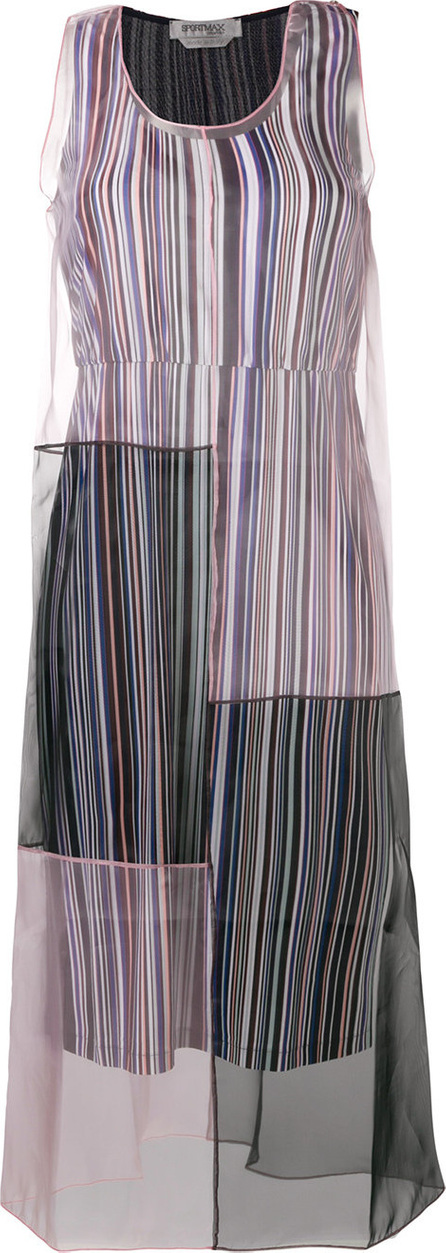 Sportmax Sheer patchwork design dress