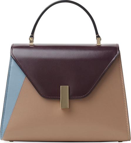 Valextra Iside Medium Colorblock Leather Top-Handle Bag