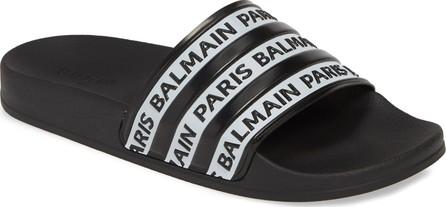 Balmain Calypso Logo Slide Sandal