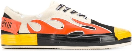 Palm Angels Flames appliqué sneakers