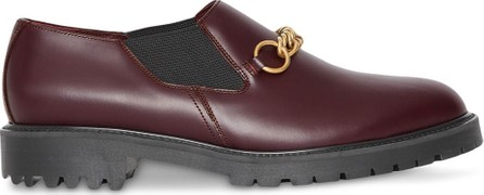 Burberry London England Link Detail Leather Shoe