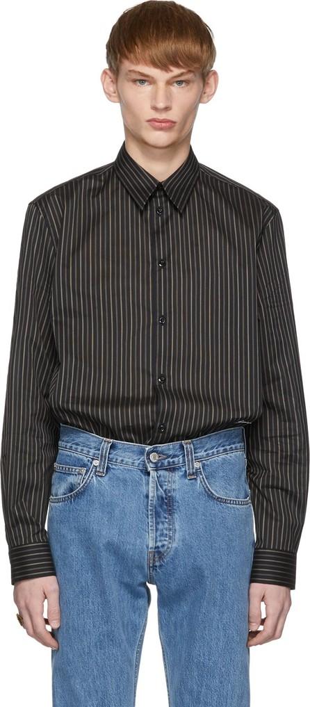 Givenchy Black & Beige Striped Oversized Shirt