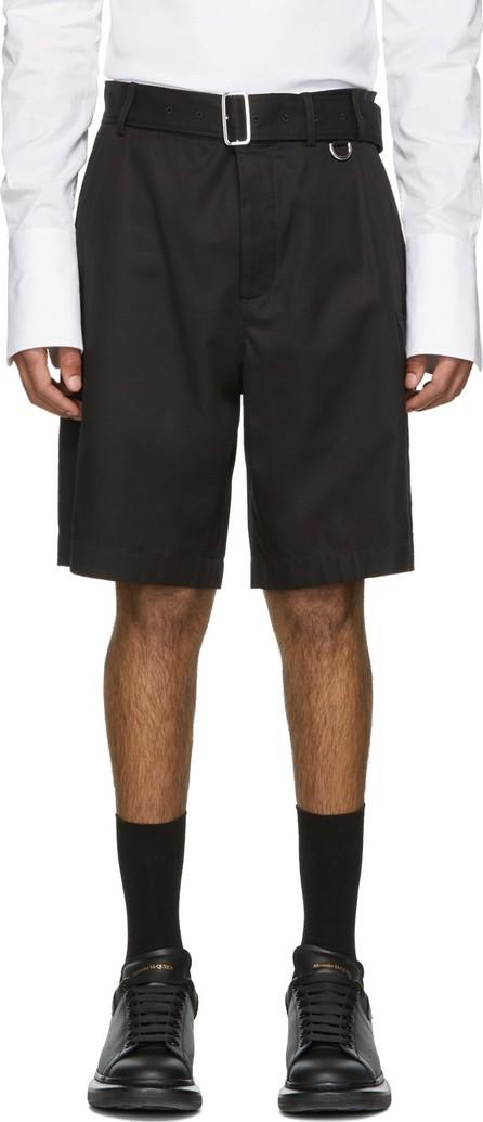 Alexander McQueen Black Belted Shorts