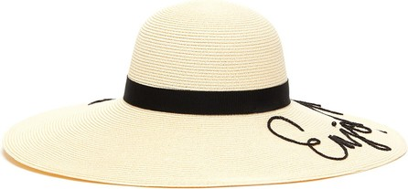 Eugenia Kim 'Bunny' slogan chain cord straw hat