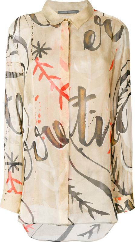 Alberta Ferretti Sheer print blouse