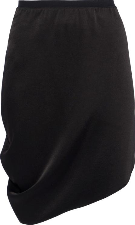 HALSTON HERITAGE Asymmetric draped sateen mini skirt