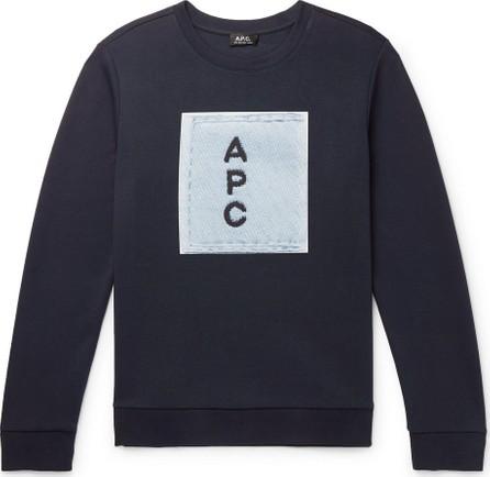 A.P.C. Logo-Print Cotton-Jersey Sweatshirt