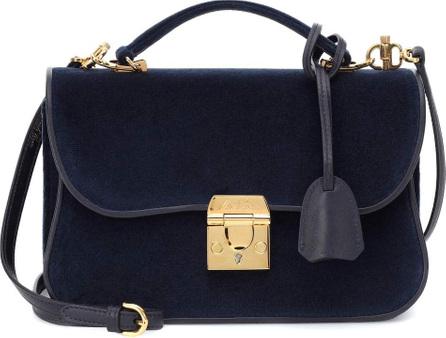 Mark Cross Dorothy velvet shoulder bag