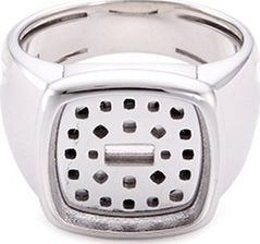 Fred 'Pain de sucre' chalcedony 18k white gold signet ring