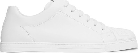 Fendi Logo-Embossed Rubber And Leather Sneakers