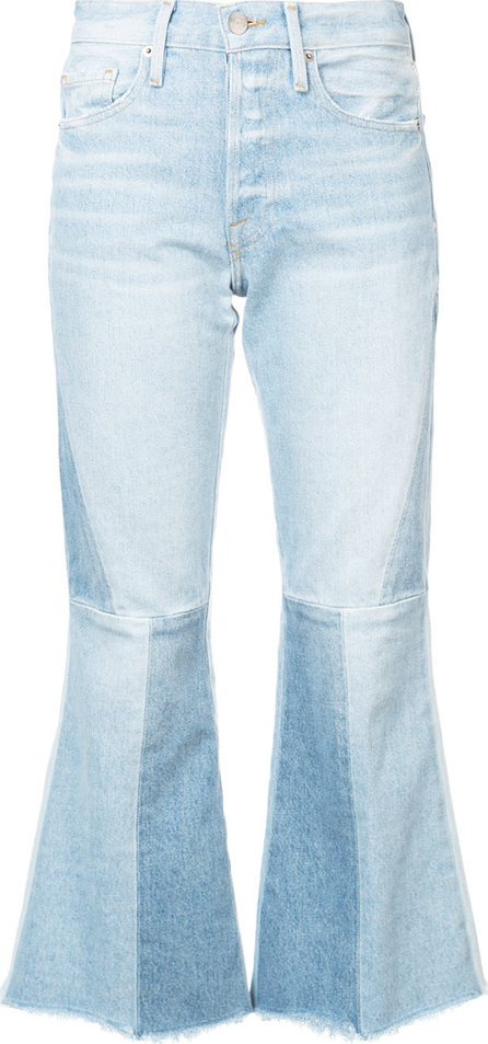 FRAME DENIM Panelled kick flare jeans