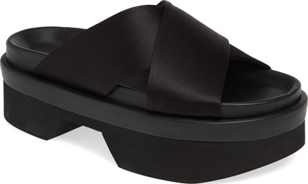 Simone Rocha Satin Platform Slide Sandal