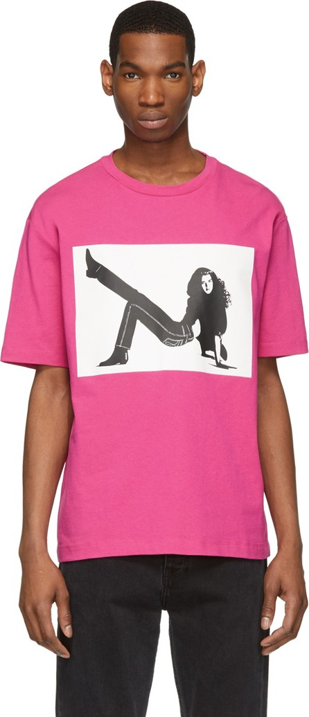 Calvin Klein Jeans Pink Icon Printed T-Shirt