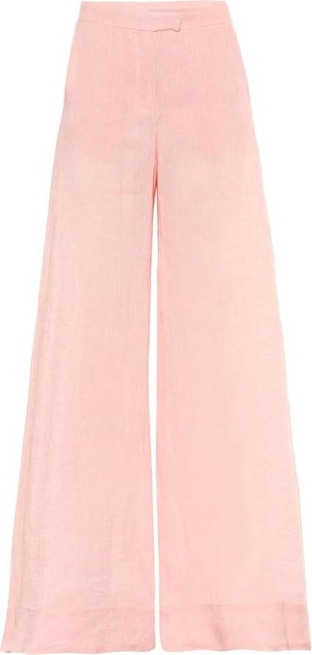 Lisa Marie Fernandez High-rise flared linen pants
