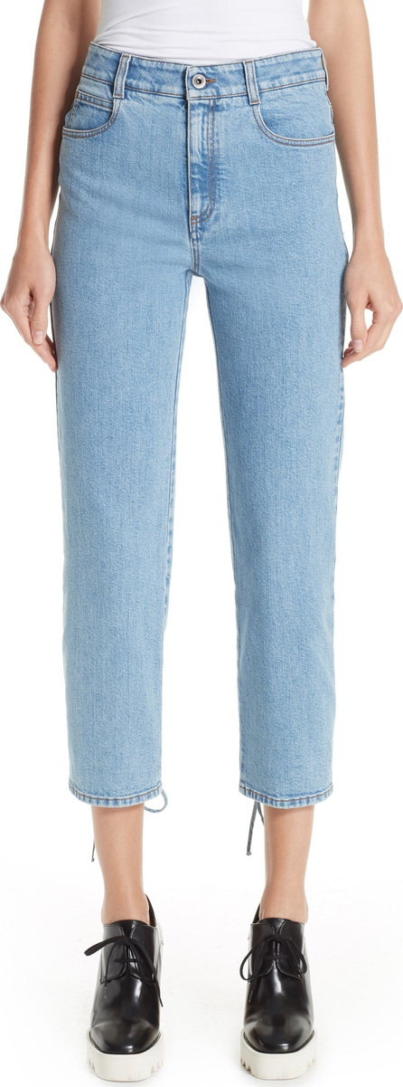 Stella McCartney Lace-Up Crop Jeans
